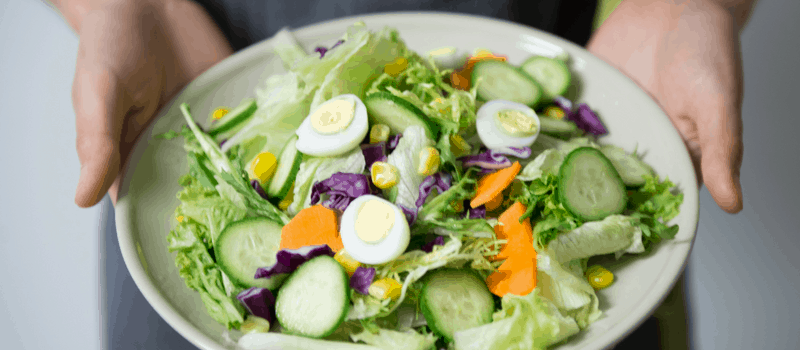 gezonde salade met ei
