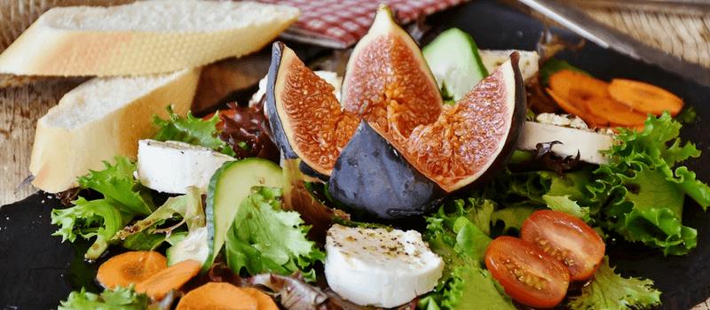 koolhydraatarme geitenkaas salade 800x350px