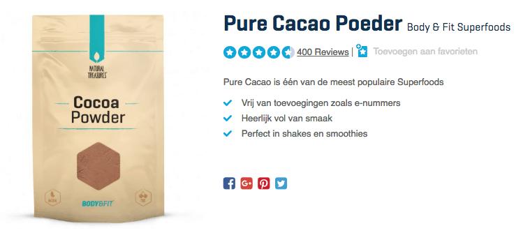 Koop Pure Cacao Poeder