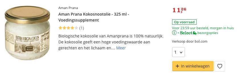 Aman Prana Kokosnootolie - 325 ml