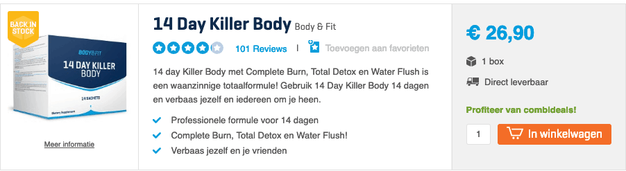 Beste afslankpillen top 5 killer body