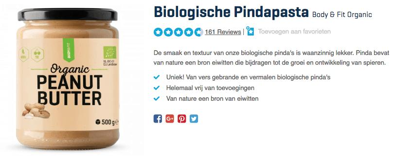 Koop Biologische Pindapasta