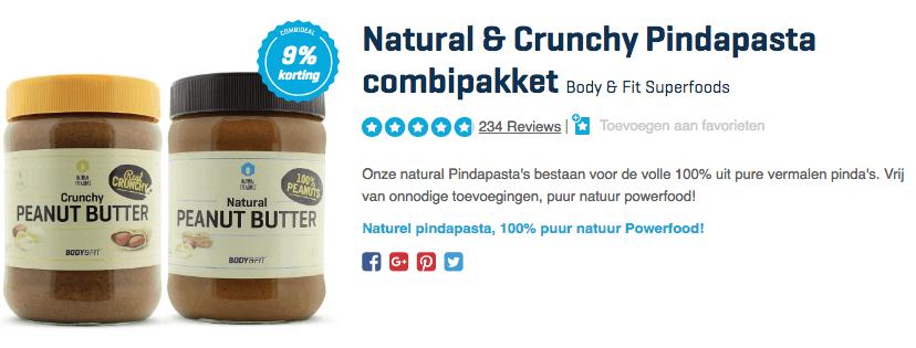 Koop Natural & Crunchy Pindapasta combipakket