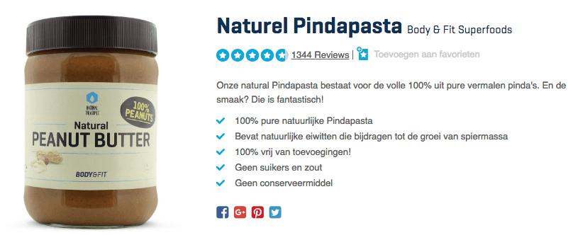 Koop Naturel Pindapasta