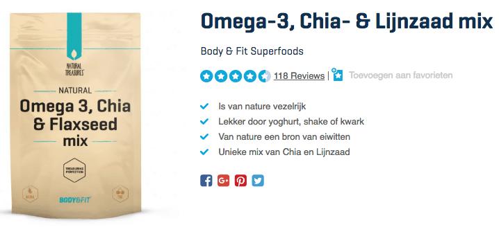 Koop Omega-3, Chia- & Lijnzaad mix