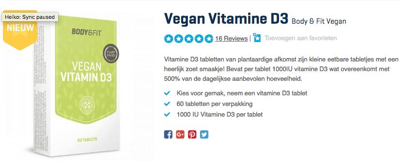 Koop Vegan Vitamine D3