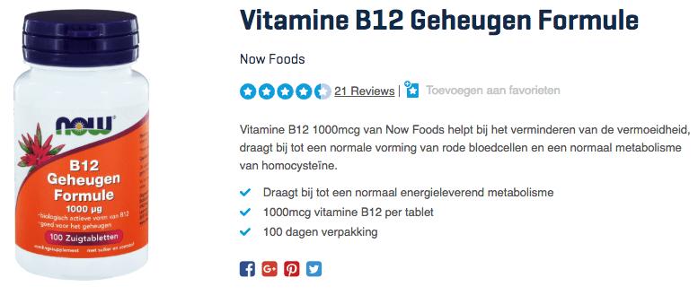 Koop Vitamine B12 Geheugen Formule