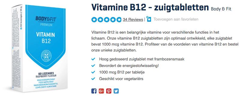 Koop Vitamine B12 - zuigtabletten