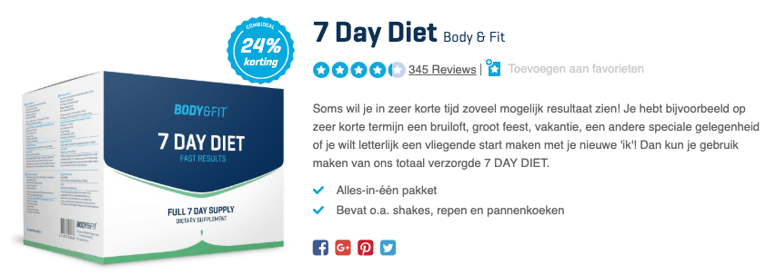 Top 1 7 Day Diet Body & Fit review