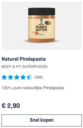 Top 1 Naturel Pindapasta BODY & FIT SUPERFOODS review