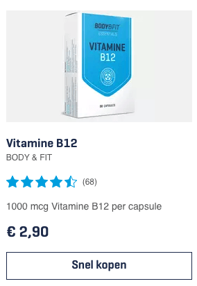 Vitamine B12 BODY & FIT review