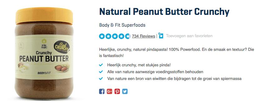 koop Natural Peanut Butter Crunchy