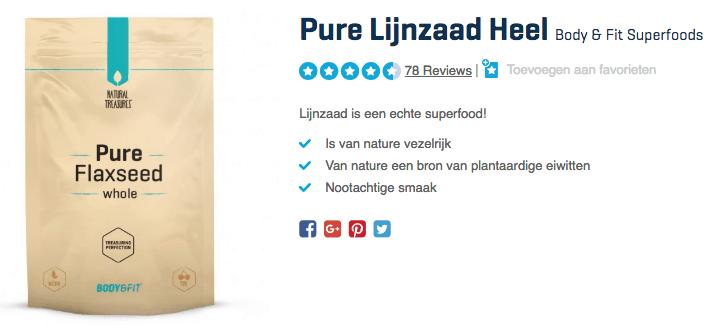 kopen Pure Lijnzaad Heel