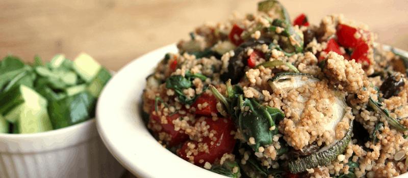 Vegetarisch menu met couscous salade