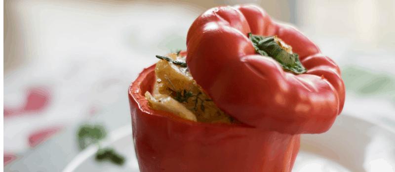 Makkelijke vegetarische maaltijd? Recept voor gevulde puntpaprika's