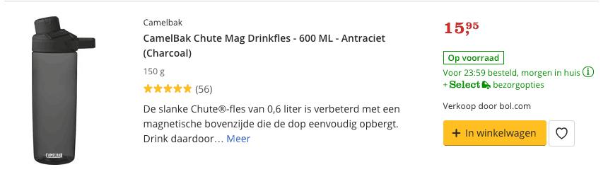 waterfles kopen van 600 ml