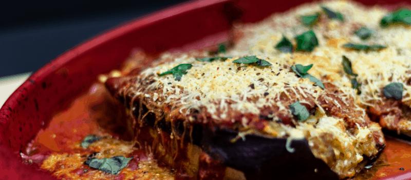 Aubergine pasta recept uit de oven
