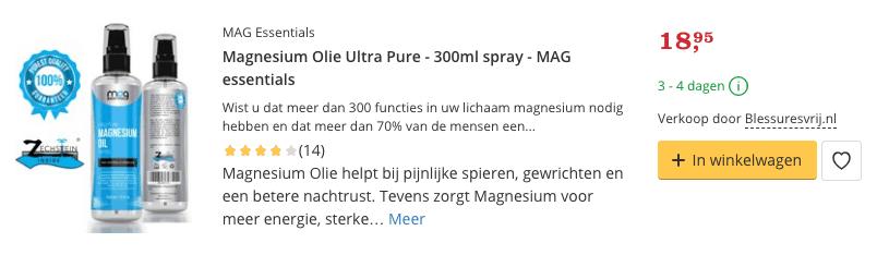 Beste Magnesium Olie kopen Ultra Pure