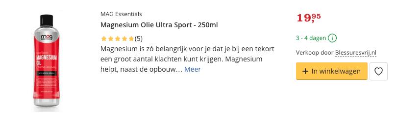 Beste Magnesium Olie sport kopen