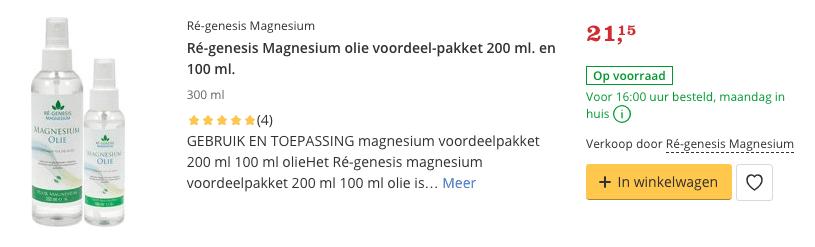 Beste Magnesium olie kopen voordeel 200 ml