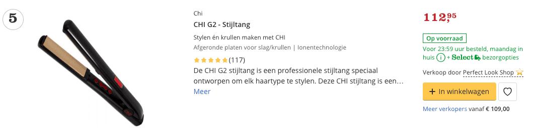 Beste stijltang CHI G2 - Stijltang