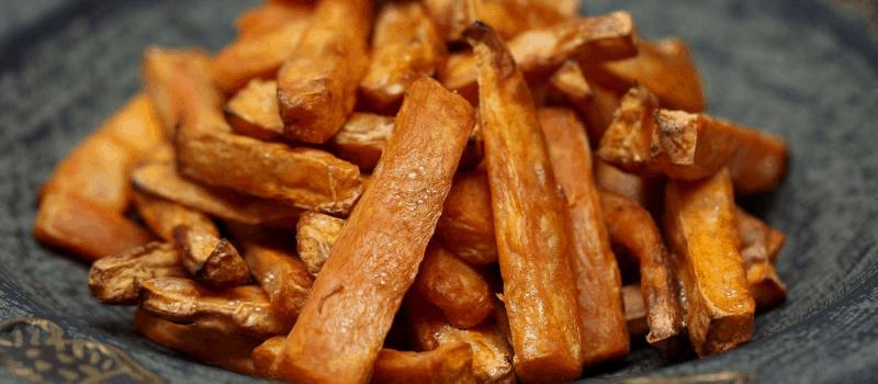 Gegrilde zoete aardappels