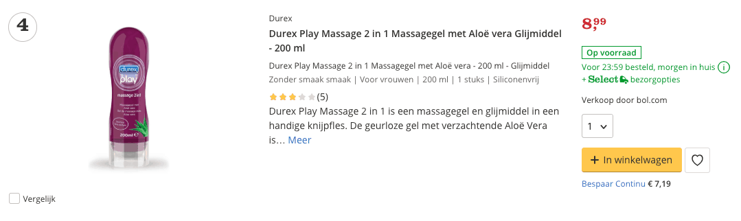 beste glijmiddel play massage
