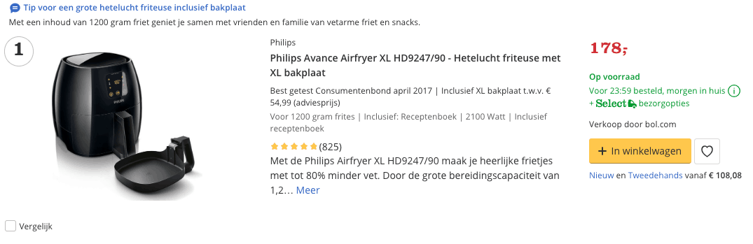 Beste Airfryer top 1 Philips