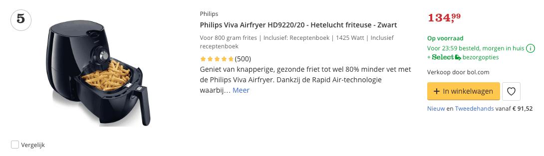 Beste Airfryer top 5