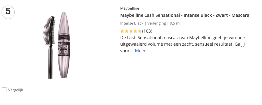 beste mascara top 5
