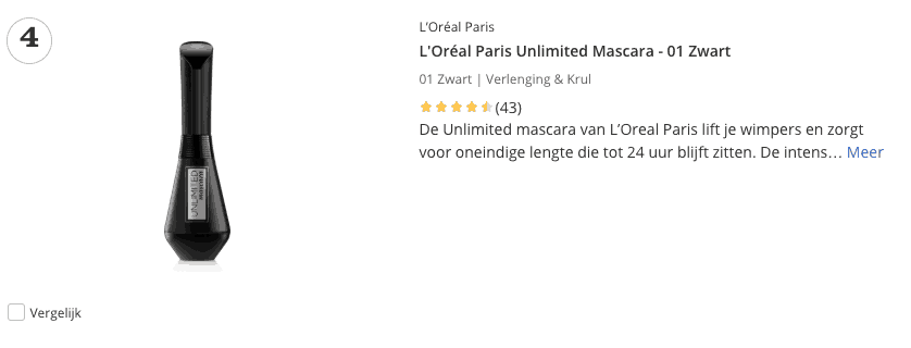 Beste mascara top 4