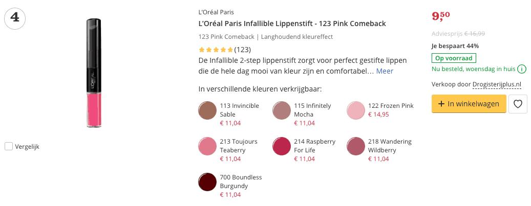 beste lippenstift top 4