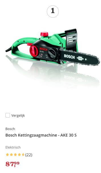 Aanbieding Bosch kettingzaag top 1 review