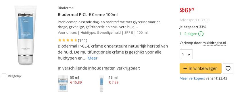 Beste Biodermal P-CL-E Creme 100ml Top 1 Review