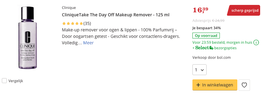 Beste CliniqueTake The Day Off Makeup Remover - 125 ml top 2 review