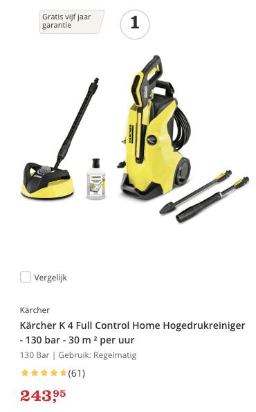 Beste Hogedrukreiniger Top 1 review Kärcher K 4 Full Control Home