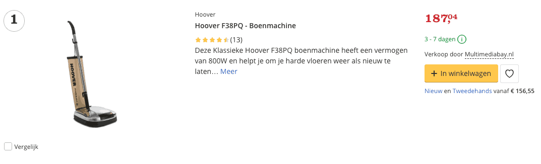 Beste Hoover F38PQ - Boenmachine top 1 Review