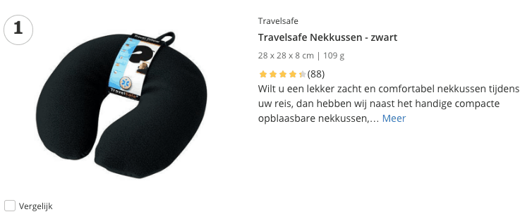 Beste Travelsafe Nekkussen - zwart top 1 review
