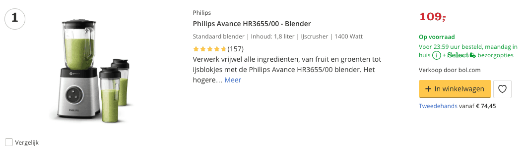 Beste blender top 1 Review Avance