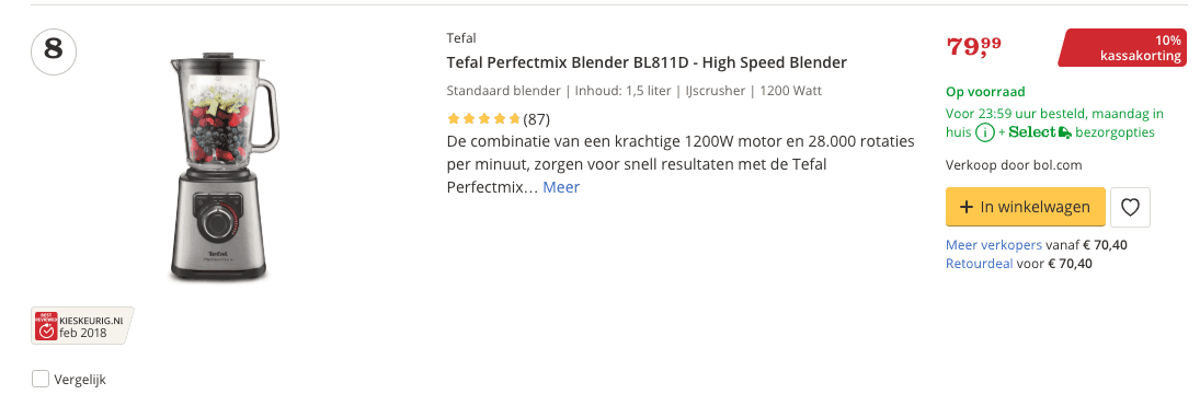 Beste blender top 4 review Tefal Perfectmix Blender