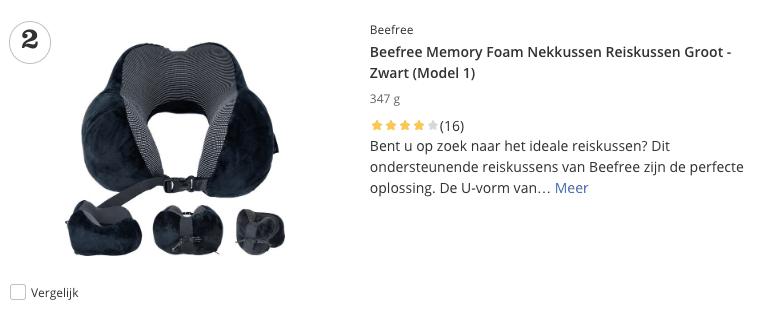 Beste top 2 Beefree Memory Foam Nekkussen Reiskussen Groot review