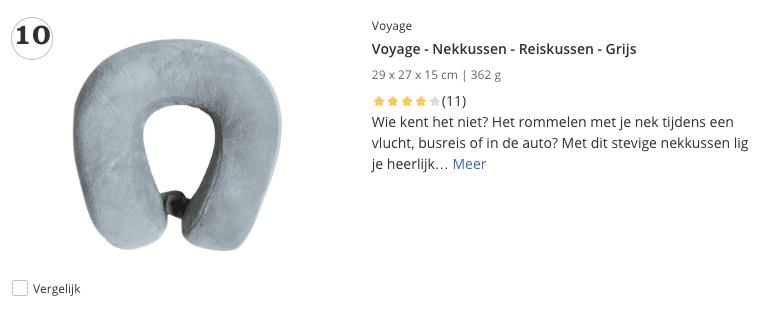 Beste top 5 Voyage - Nekkussen - Reiskussen - Grijs review