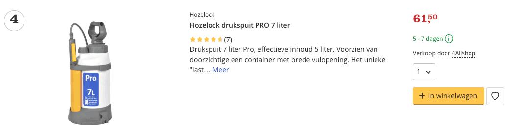 Hozelock Drukspuit Standard - 5 liter Top 4 review