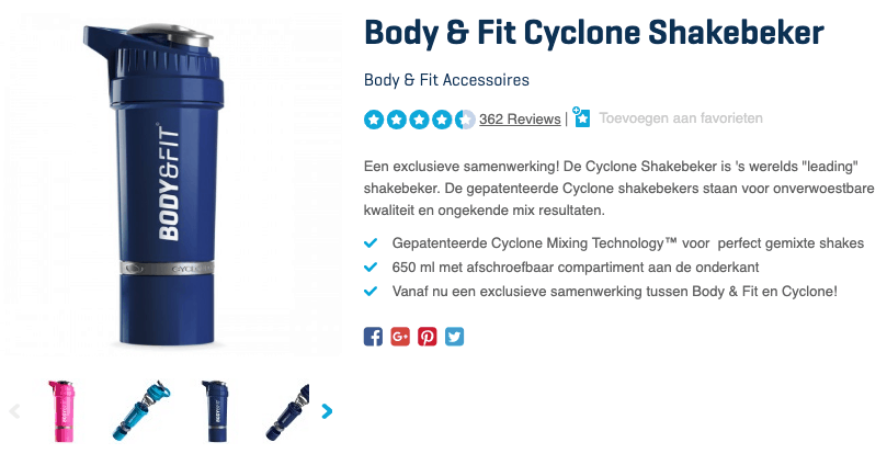 Top 1 Body & Fit Cyclone Shakebeker review