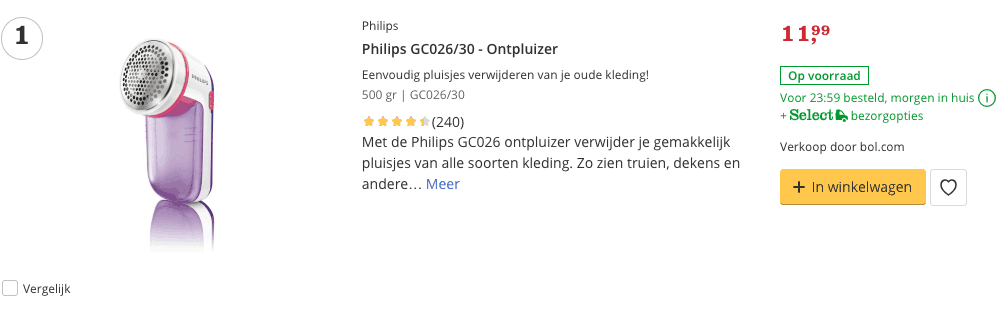 Top 1 Philips GC026:30 - Ontpluizers review