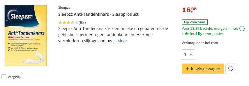 Top 2 Sleepzz Anti-Tandenknars - Slaapproduct review