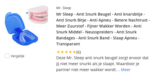 Top 4 Mr Sleep - Anti knarsbitje en Anti Snurk Beugel review