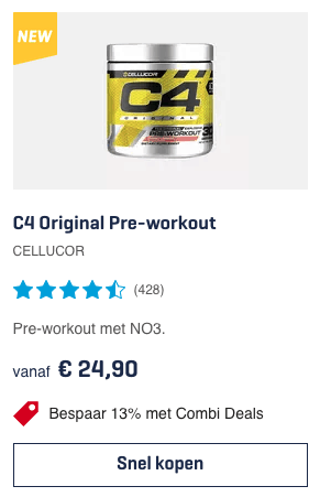 Top 1 C4 Original Pre-workout CELLUCOR review