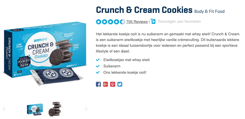 Top 1 Crunch & Cream Cookies Body & Fit Food review