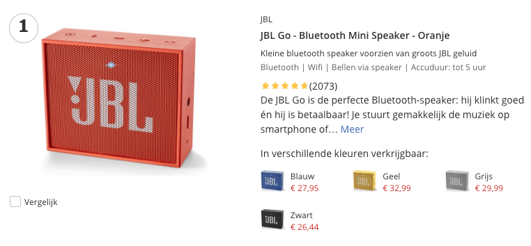 Top 1 JBL Go - Bluetooth Mini Speaker - Oranje review